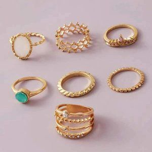 RINGOLOGY - 7 PCS/SET BOHEMIAN RINGS